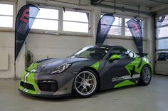grey/green Cayman GT4 | DESIGN ATELIER TTSTUDIO