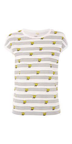 Undiz X SpongeBob:  Tee-shirt avec imprimés Bob l'éponge.