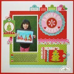 Doodlebug Design Inc Blog: Santa Express: A Work of Heart Layout by Mendi