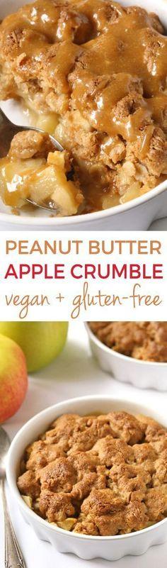 Peanut Butter Apple Crumble {vegan, gluten-free, dairy-free, and 100% whole grain}(Vegan Gluten Free Breakfast)