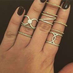 love all these stackable rings available at www.allisonlauren.com