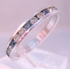 $17.99 Tanzanite & CZ Sterling Band Ring Stacking Signed PAD Size 7 Vintage Jewelry Jewellery by BrightEyesTreasures on Etsy