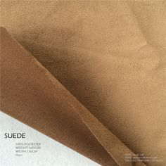 "Show details for suede fabric with warp / weft / woven knitted fabric of pesca ultra soft pux1 wr waterproof 160gsm 58/60"" col065 brown"