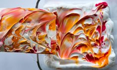 DIY Marbled Paper with Shaving Cream - Lift the Paper