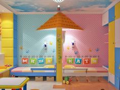 kinderzimmer komplett in blau und rosa