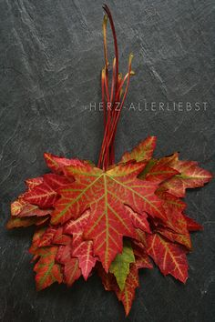 bundle some autumn leafs - free & easy deco