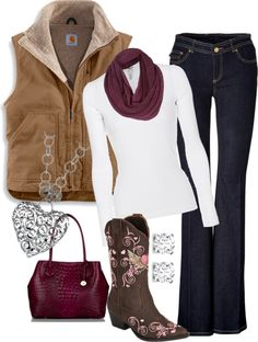 """""""love my carhartt vest"""" by country-girls-world ❤ liked on Polyvore"""