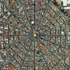 birds eye view of a city of Mexico