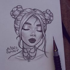 [orginial_title] – art drawing Little portrait sketch~🤓✨ Inspired by Ani S.y… – Little portrait sketch~🤓✨ Inspired by Ani S. Girl Drawing Sketches, Cool Art Drawings, Portrait Sketches, Pencil Art Drawings, Beautiful Drawings, Easy Drawings, Drawing Lips, Pen Sketch, Drawing Ideas