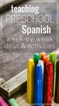 Week by week ideas, songs, games, and activities for teaching a preschool Spanish class. Teach with authentic songs, and learn language through words in context through stories.