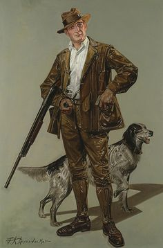 Lyendecker, FX Gentleman Hunting (Remington- ad), c 1910 American Illustration, Illustration Art, Joseph, Jc Leyendecker, Character Art, Character Design, Norman Rockwell, Le Far West, Golden Age