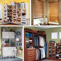 Get organized and find piece of mind with closet, garage and whole home organizers and window coverings at Closet Classics and Classic Blinds of Montana. Window Coverings, Home Organization, Custom Homes, Classic Blinds, Windows, Organize, Closet, House, Home Decor