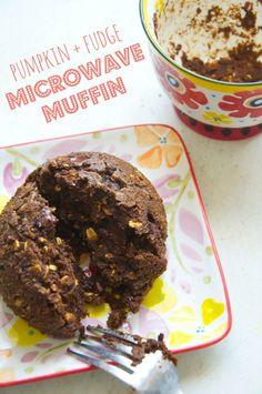 Pumpkin Fudge Microwave Muffin // neverhomemaker