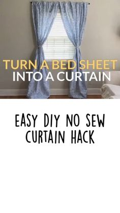 Diy Crafts For Home Decor, Diy Crafts Hacks, Easy Home Decor, Home Craft Ideas, Diy House Decor, Diy Home Projects Easy, No Sew Curtains, Ikea Curtains, Hanging Curtains