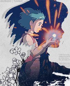 Howl's Moving Castle Fanarts Anime, Anime Films, Manga Anime, Anime Art, Howl's Moving Castle, Studio Ghibli Art, Studio Ghibli Movies, Hayao Miyazaki, Ghibli Tattoo