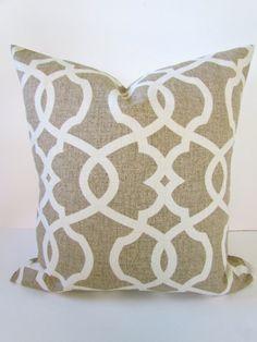 Tan PILLOW Covers 20x20 Tan Decorative Throw Pillows Taupe Throw Pillow  Covers Trellis Home And Living