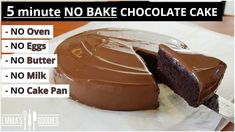 Discover recipes, home ideas, style inspiration and other ideas to try. Microwave Chocolate Cakes, No Bake Chocolate Cake, Microwave Cake, Chocolate Cake Recipe Easy, Chocolate Recipes, Cake Recipes Without Oven, Cake Recipes From Scratch, Best Cake Recipes, Sweet Recipes