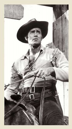 "Clint Walker - ""Cheyenne Bodie'' Cute expression!"