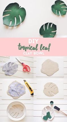 plaster leaves do it themselves. Hen - Monstera plaster leaves do it themselves. Hen, -Monstera plaster leaves do it themselves. Hen - Monstera plaster leaves do it themselves. Diy Jewelry To Sell, Diy Jewelry Tutorials, Diy Jewelry Making, Video Tutorials, Hair Tutorials, Sell Diy, Jewelry Ideas, Diy Air Dry Clay, Diy Clay