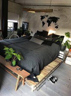 Bohemian Bedroom Decor Ideas - Locate the very best Bohemian Bedroom Layouts. Discover ways to provide your bedroom a boho touch. Home Bedroom, Bedroom Decor, Bedroom Ideas, Bedroom Layouts, Bedroom Designs, Modern Bedroom, Dark Cozy Bedroom, Urban Bedroom, Bedroom Simple