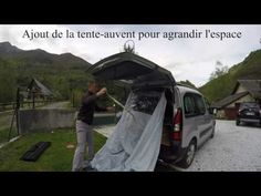 Amenagement du Peugeot Partner en camping car bivouac - YouTube
