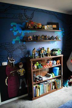 Teenage Mutant Ninja Turtle Bedroom Mural Work In Progress Tmnt More Photos Of The Rest Of The