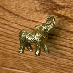Signature Hardware Solid Brass Elephant Cabinet Knob #SignatureHardware