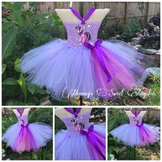Purple pony tutu. Comes with free bow by MommysSweetAngel on Etsy