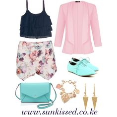 Skort me over by wendyflav on Polyvore featuring polyvore, fashion, style, Aéropostale, Quiz, Shellys and Kate Spade