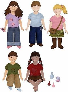 NEW✿ Quickutz Exclusive Kids Children Doll Outfits & Hair Die ✿ Cuttlebug Sizzix