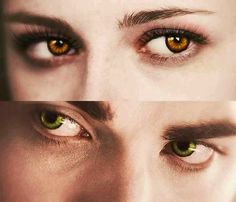 Bella as the vampire, Edward as the human... love their eyes! There is probably many fan fiction stories about this!