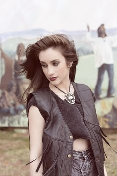 leather + bolo tie // western hipste fashion