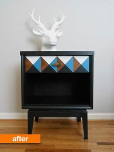 Before & After: A Nightstand's Nod to Geometry | Apartment Therapy