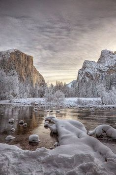 Ice Valley View,Yosemite National Park,California