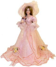 This Victorian doll is truly stunning in her beautiful pink flowered detailed. Buy this graceful Victorian doll from house of Dolls. Victorian Dolls, Antique Dolls, Pretty Dolls, Beautiful Dolls, Vintage Porcelain Dolls, Fine Porcelain, Painted Porcelain, Hand Painted, Little Dolly