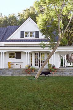 Embrace Your Personal Style:  This traditional farmhouse, complete with a gable roof and board-and-batten paneling, stands out from the typical Spanish-style architecture popular in Ojai, California.