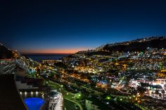 Puerto Rico Gran Canaria night view