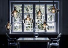 Hänge-Lampe / modern / für Innenbereich / transparent - LONGIS II - Kaspa