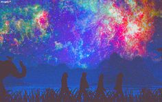 Beatles in space.....with an elephant  (gif)