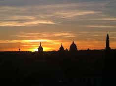 Tramonto. A Piazza del Popolo. Roma