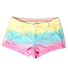 Tie Dye Lace Shorts #tie #die #lace #shorts #summer
