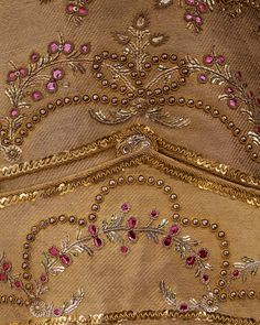 Man's Shimmering Waistcoat Adorned with Bright Spangles. France, 1780-1789.