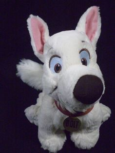 "Disney Bolt White Dog Lightening BOLT Plush Puppy Tote A Tail Soft Toy 9"" #Disney"