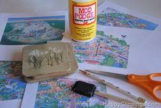 DIY: Disney World/Disneyland Map Coasters in Disney Cruise: Fish Extenders  Door Decor Forum
