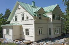 Sidenhuset: Målning av fasad