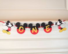 Mickey Mouse Birthday Banner DIY Kit Optional Custom Name with