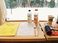 """cynthspiration: """"3.3.15 // 4:30 pm I started studying for the AP Physics exam. Vectors seem so easy compared to what we're doing now. I like sitting in front of my big window with the rolling table..."""