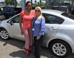 A very stylish Debra Jones with her newly purchased, and just as stylish 2013 Kia Rio! We wish her many years of fun and safe driving! #ztmotorshappyclients