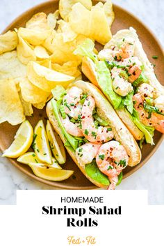 Refreshing, satisfying, and super easy, this gluten free shrimp salad is a recipe that you'll come back to again and again! How To Make Shrimp, Shrimp Rolls, Salad Rolls, Healthiest Seafood, Quick Weeknight Dinners, Gluten Free Recipes For Dinner, Shrimp Salad, Salad Recipes, Healthy Recipes