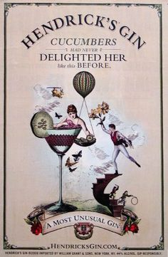 love the vintage aesthetic of these hendrick's gin adverts. might make a good tattoo style.